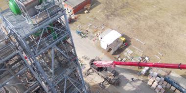 construction destillation unit